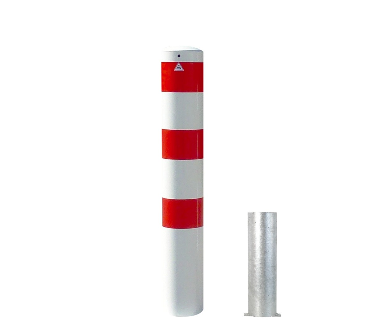Stahlrohrpoller Ø 152 mm herausnehmbar ohne Verschluss Absperrpfosten