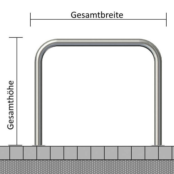 Edelstahlbügel Ø 48 mm