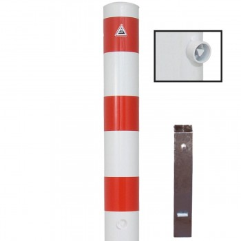 Stahlrohrpoller Ø 152 mm herausnehmbar mit Dreikant Absperrpfosten