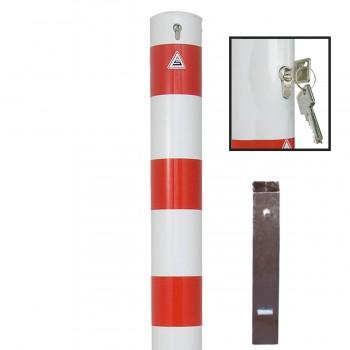 Stahlrohrpoller Ø 152 mm herausnehmbar mit Profilzylinderschloss Absperrpfosten