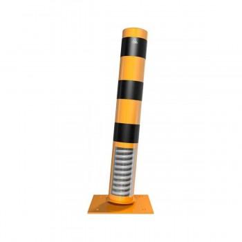 Stahlrohrpoller Ø 152 x 3,2 mm neigbar für Dübelbefestigung gelb / schwarz