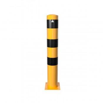 Stahlrohrpoller Ø 152 x 3,2 mm mm für Dübelbefestigung gelb / schwarz