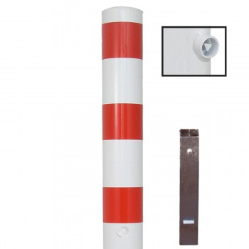 Stahlrohrpoller Ø 193 mm herausnehmbar mit Dreikant Absperrpfosten