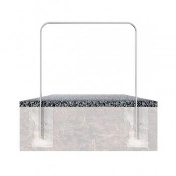 Anlehnbügel aus Flachstahl 50 x 12 mm – in gebogener Ausführung, feuerverzinkt, zum einbetonieren