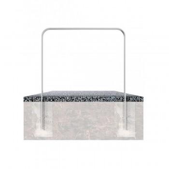 Anlehnbügel aus Flachstahl 80 x 12 mm – in gebogener Ausführung, feuerverzinkt, zum einbetonieren