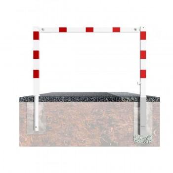 Wegesperre 70 x 70 mm schwenkbar mit Dreikantverschluss mit Oberholm