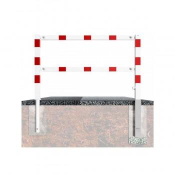 Wegesperre 70 x 70 mm schwenkbar mit Dreikantverschluss mit Ober- und Querholm