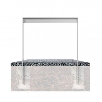 Anlehnbügel aus Flachstahl 80 x 12 mm mit Unterzug
