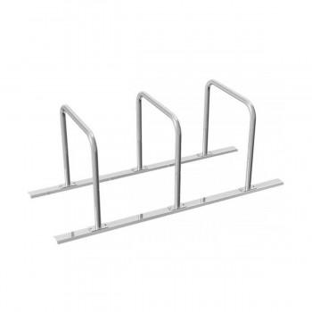 Fahrradständer Anlehnbügel Ø 48 mm Stahlrohr für Dübelbefestigung