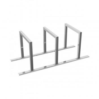 Fahrradständer Anlehnbügel 60 x 60 mm Stahlrohr  für Dübelbefestigung