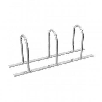 Fahrradständer Rundbügel Ø 48 mm Stahlrohr für Dübelbefestigung