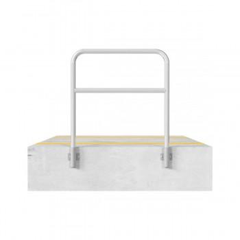 Schutzbügel mit Querholm Ø 48 x 2,5 mm für Wandmontage für Dübelbefestigung feuerverzinkt