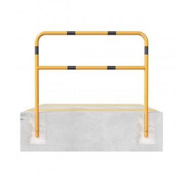 Schutzbügel mit Querholm Ø 48 x 2,5 mm zum einbetonieren gelb / schwarz