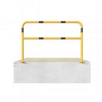 Schutzbügel mit Querholm Ø 48 x 2,5 mm für Dübelbefestigung gelb / schwarz