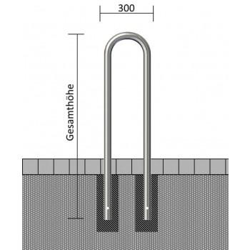 Universalbügel Edelstahlrohr Ø 48 mm, zum einbetonieren