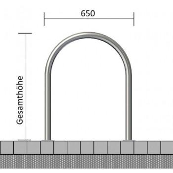 Rundbügel Edelstahlrohr Ø 48 mm