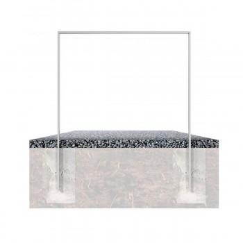 Anlehnbügel aus Flachstahl 50 x 12 mm, feuerverzinkt, zum einbetonieren