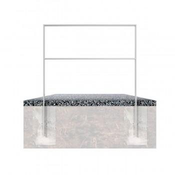Anlehnbügel aus Flachstahl 50 x 12 mm, mit Querholm, feuerverzinkt, zum einbetonieren