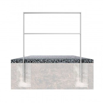 Anlehnbügel aus Flachstahl 80 x 12 mm, mit Querholm, feuerverzinkt, zum einbetonieren