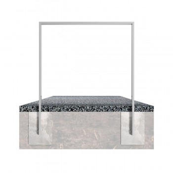 Anlehnbügel aus Stahlrohr 80 x 20 mm, zum einbetonieren