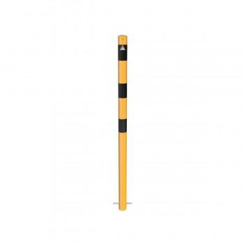 Absperrpfosten Ø 60 mm Stahlrohr zum einbetonieren gelb / schwarz