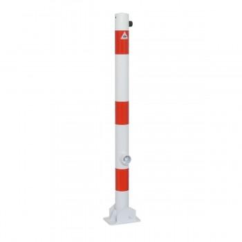 Absperrpfosten 60 mm Stahlrohr umlegbar Dreikant für Dübelbefestigung
