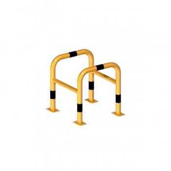 Schutzbügel für Säulen Ø 60 mm Stahlrohr für Dübelbefestigung gelb / schwarz