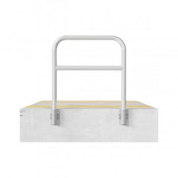 Schutzbügel mit Querholm Ø 60 x 2,5 mm für Wandmontage für Dübelbefestigung feuerverzinkt