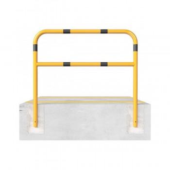 Schutzbügel mit Querholm Ø 60 x 2,5 mm zum einbetonieren gelb / schwarz