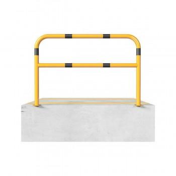 Schutzbügel mit Querholm Ø 60 x 2,5 mm für Dübelbefestigung gelb / schwarz