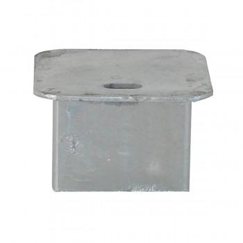 Abdeckklappe feuerverzinkt passend für Bodenhülse Art.-Nr. 470.10 für 70 x 70 mm Pfosten ohne Verschluss