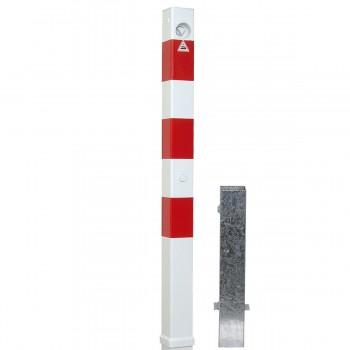Absperrpfosten 70 x 70 mm Stahlrohr herausnehmbar mit Dreikant oben innenliegend