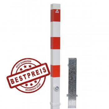 Absperrpfosten 70 x 70 mm Stahlrohr herausnehmbar mit Dreikant