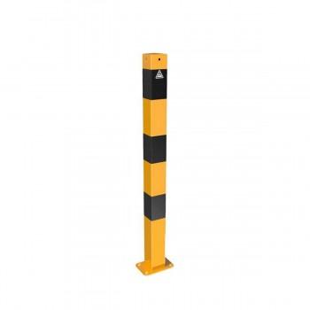 Absperrpfosten 70 x 70 mm Stahlrohr für Dübelbefestigung gelb / schwarz