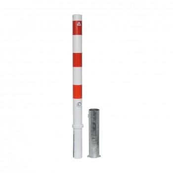 Absperrpfosten 76 mm Stahlrohr herausnehmbar mit Dreikant