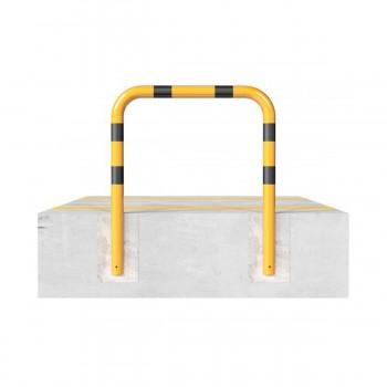 Rammschutzbügel Ø 76 mm Stahlrohr zum einbetonieren gelb / schwarz