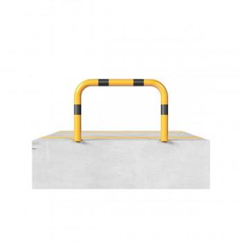 Rammschutzbügel Ø 76 mm Stahlrohr für Dübelbefestigung gelb / schwarz