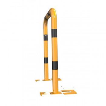 Rammschutzbügel abnehmbar Ø 76 mm Stahlrohr für Dübelbefestigung gelb / schwarz