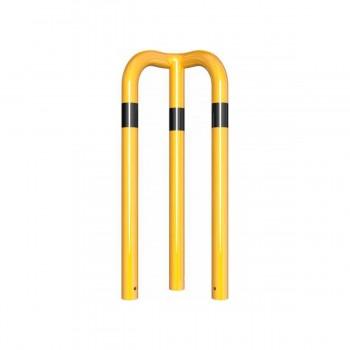 Rammschutzbügel 90° gleichschenkelig Ø 76 mm Stahlrohr zum einbetonieren gelb / schwarz