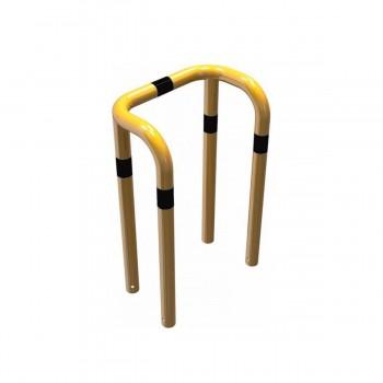 Rammschutzbügel Doppelbügel Ø 76 mm Stahlrohr zum einbetonieren gelb / schwarz