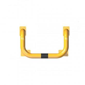 Rammschutzbügel Doppelbügel Ø 76 mm Stahlrohr für Dübelbefestigung gelb / schwarz
