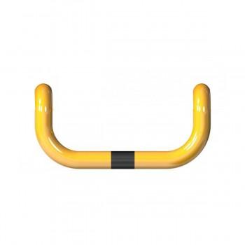 Rammschutzbügel doppelseitige Ø 76 mm Stahlrohr zum einbetonieren gelb / schwarz