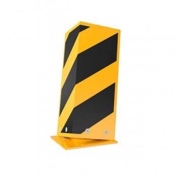 Anfahrschutz elastisch Stahlblech 5mm stark gelb / schwarz zum Aufdübeln