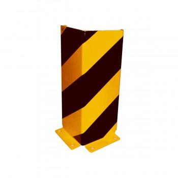 Anfahrschutzwinkel mit verstärkten Kanten Stahlblech 6 mm stark zum Aufdübeln gelb / schwarz