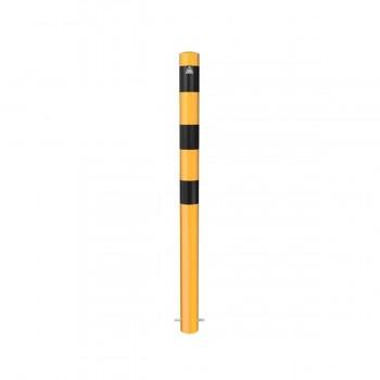 Absperrpfosten Ø 89 mm Stahlrohr zum einbetonieren gelb / schwarz