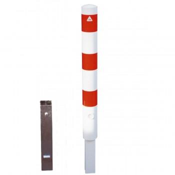 Absperrpfosten 89 mm Stahlrohr herausnehmbar mit Dreikant