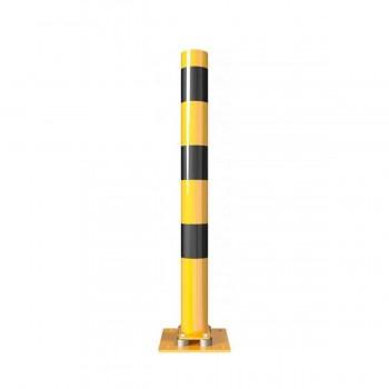 Absperrpfosten Anfahrsicher Ø 89 mm neigbar für Dübelbefestigung gelb / schwarz
