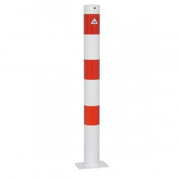 Absperrpfosten 89 mm Stahlrohr für Dübelbefestigung
